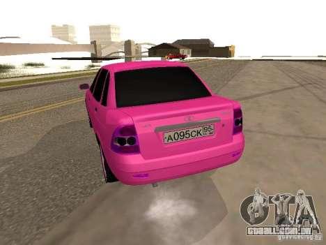 Lada Priora Emo para GTA San Andreas traseira esquerda vista