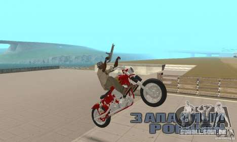 Orange County old school chopper Sunshine para GTA San Andreas vista direita