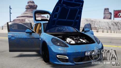 Porsche Panamera Turbo 2010 Black Edition para GTA 4 esquerda vista