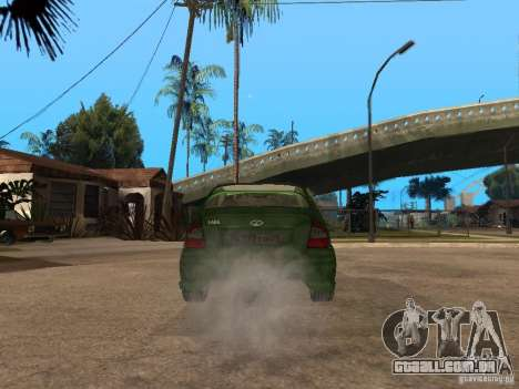 Lada Kalina Sport Tuning para GTA San Andreas traseira esquerda vista