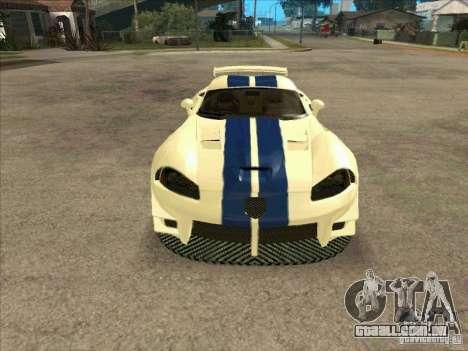 Dodge Viper from MW para GTA San Andreas vista traseira