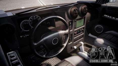 Hummer H2 para GTA 4 vista de volta