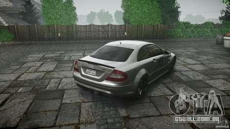 Mercedes Benz CLK63 AMG Black Series 2007 para GTA 4 vista lateral