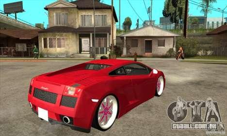 Lamborghini Gallardo White & Pink para GTA San Andreas vista direita