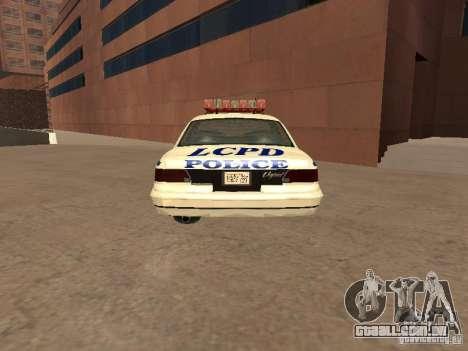 A polícia de GTA4 para GTA San Andreas traseira esquerda vista