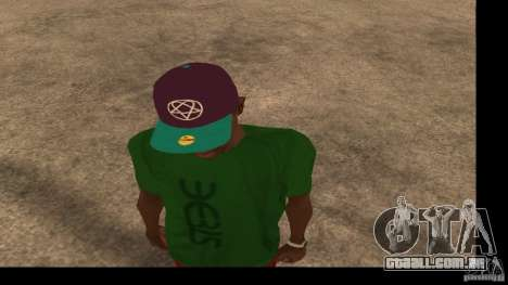 Boné de beisebol com o logotipo da banda HIM para GTA San Andreas segunda tela