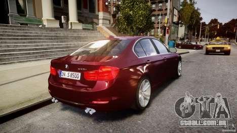 BMW 335i 2013 v1.0 para GTA 4 vista inferior