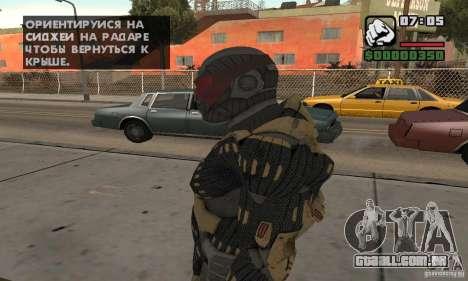 Crysis skin para GTA San Andreas segunda tela