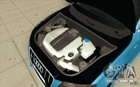 Audi S4 2009 para GTA San Andreas vista inferior