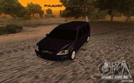 Largo da Lada para GTA San Andreas traseira esquerda vista