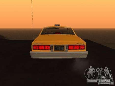 Chevrolet Caprice 1986 Taxi para GTA San Andreas vista direita