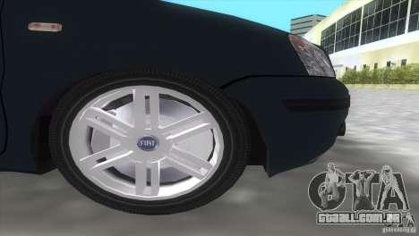 Fiat Panda 2004 para GTA Vice City vista traseira