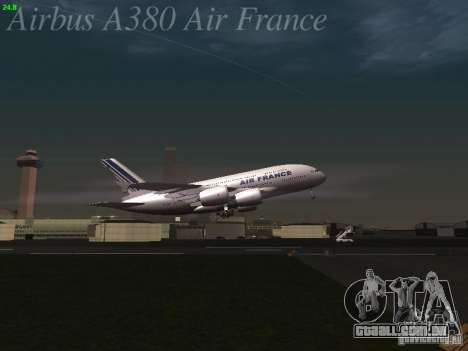 Airbus A380-800 Air France para GTA San Andreas vista inferior