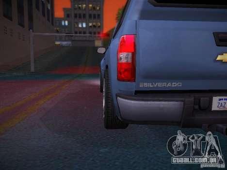 Chevrolet Silverado para GTA San Andreas interior