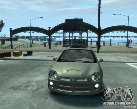 Dodge Neon 02 SRT4 para GTA 4 vista de volta