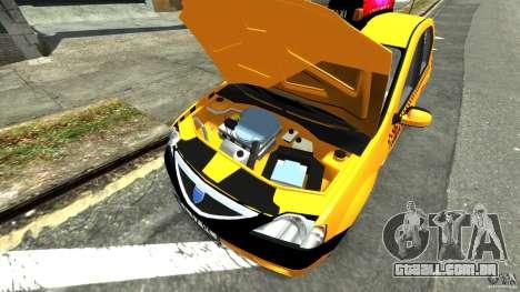 Dacia Logan Prestige Taxi para GTA 4 vista de volta