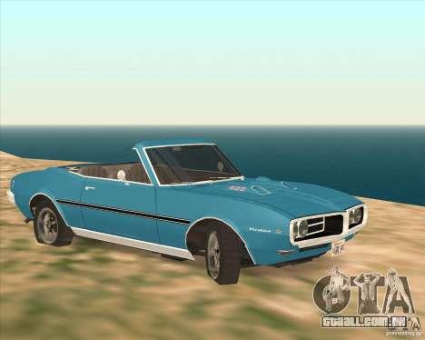 Pontiac Firebird Conversible 1966 para GTA San Andreas traseira esquerda vista