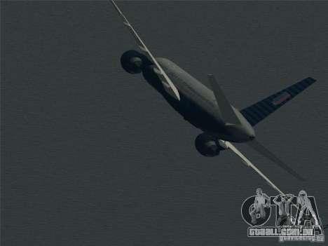 Boeing 757-200 United Airlines para GTA San Andreas vista superior