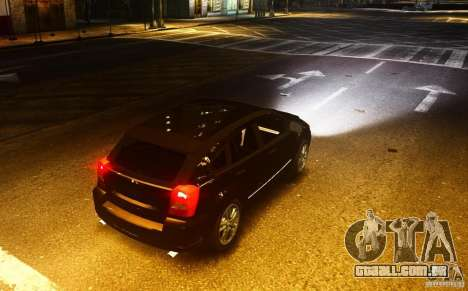 Dodge Caliber para GTA 4 vista de volta