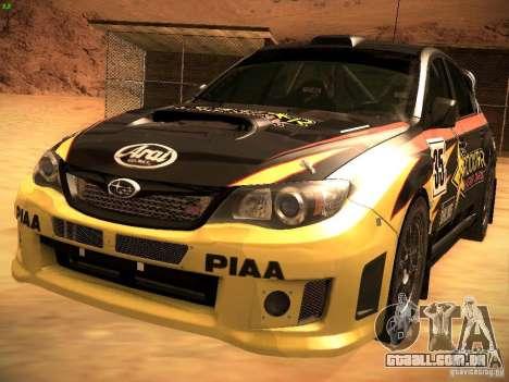 Subaru Impreza Gravel Rally para GTA San Andreas interior