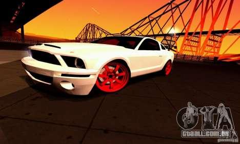 Shelby GT500 KR para GTA San Andreas vista inferior
