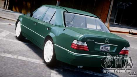 Mercedes-Benz W124 E500 1995 para GTA 4 motor