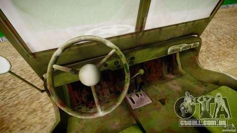 Jeep Willys [Final] para GTA 4 vista de volta