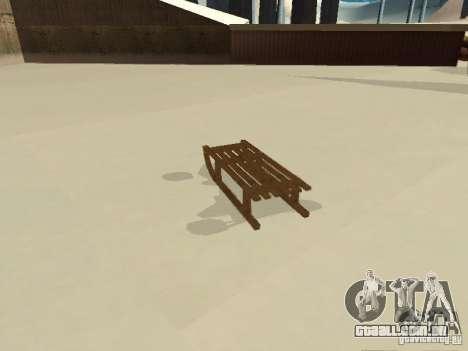 Sledge v1 para GTA San Andreas traseira esquerda vista