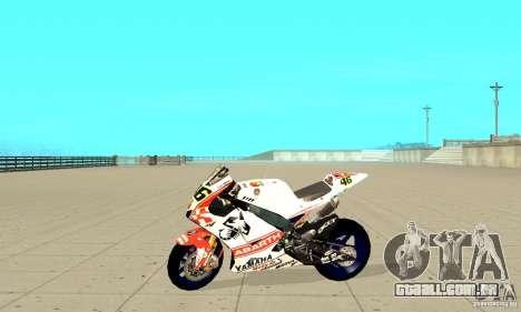 Honda Valentino Rossi Pcj600 para GTA San Andreas esquerda vista