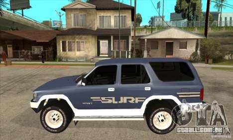 Toyota Surf v1.0 para GTA San Andreas esquerda vista
