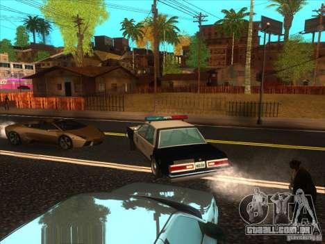 Dodge Diplomat 1985 LAPD Police para GTA San Andreas traseira esquerda vista