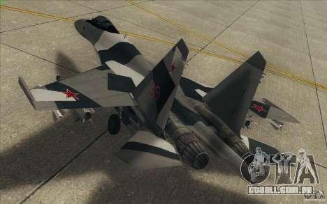 Su-35 BM v 2.0 para GTA San Andreas vista inferior