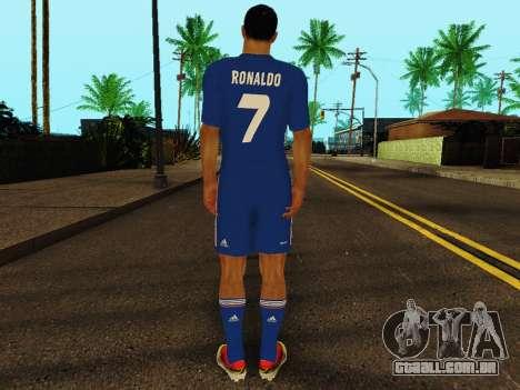 Cristiano Ronaldo v2 para GTA San Andreas por diante tela