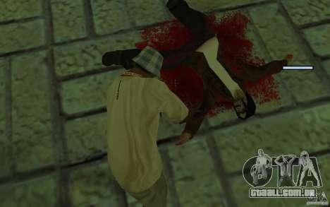 Mutant para GTA San Andreas quinto tela