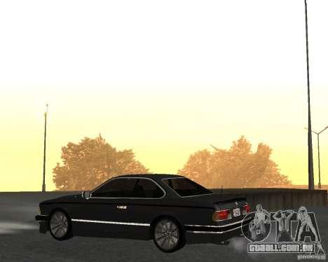 BMW M6 E24 para GTA San Andreas traseira esquerda vista