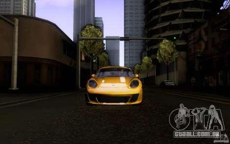 Ruf RK Coupe V1.0 2006 para GTA San Andreas vista superior