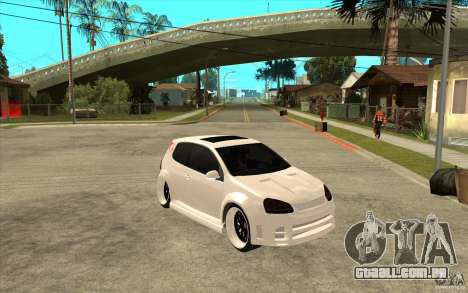VW Golf 5 GTI Tuning para GTA San Andreas vista traseira