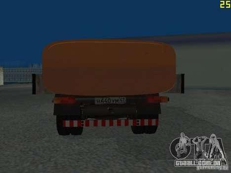 Ko-829 na beta de chassi de caminhão ZIL-130 para GTA San Andreas vista direita