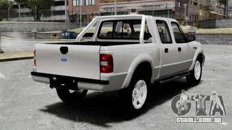 Ford Ranger 2008 XLR para GTA 4 traseira esquerda vista