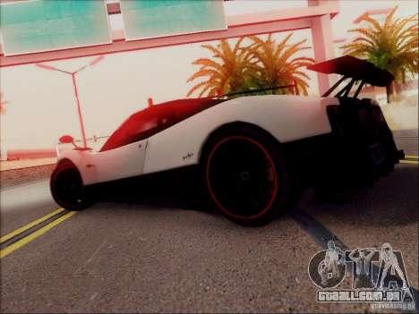 Pagani Zonda Cinque para GTA San Andreas vista inferior