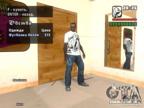 T-shirt do Adidas Crazy Dog para GTA San Andreas