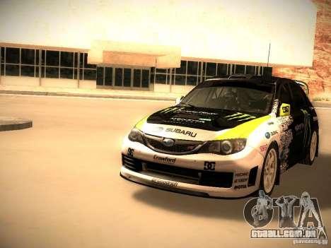 Subaru Impreza Gymkhana para GTA San Andreas esquerda vista