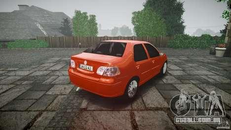 Fiat Albea Sole para GTA 4 vista lateral