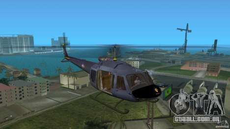 Maverick Bell-Huey para GTA Vice City deixou vista