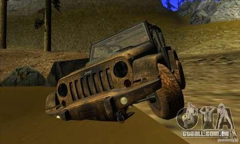 Jeep Wrangler para GTA San Andreas vista traseira