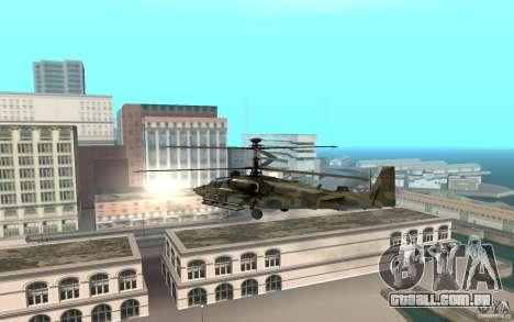 Ka-52 Alligator para GTA San Andreas traseira esquerda vista