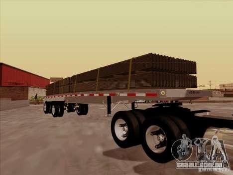 Trailer Artict1 para GTA San Andreas vista traseira