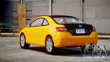 Honda Civic Si Coupe 2006 v1.0 para GTA 4 vista superior