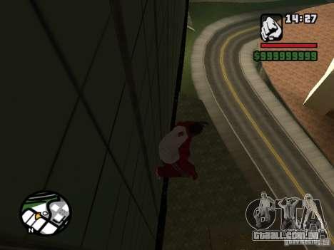 Wallrun infinita correndo na parede para GTA San Andreas segunda tela