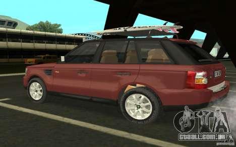 Land Rover Range Rover 2007 para GTA San Andreas vista direita